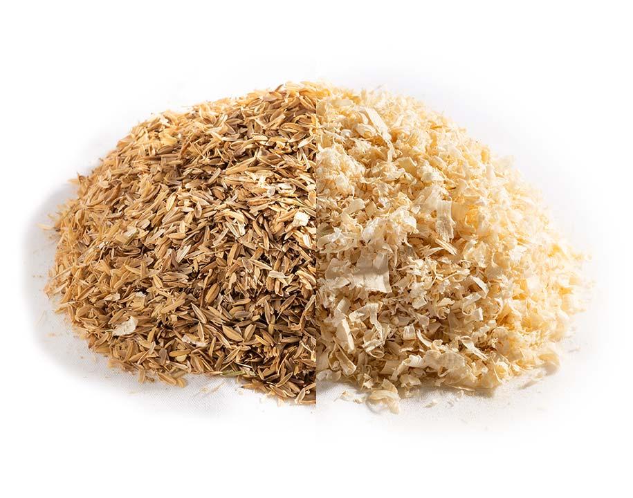Lolla di riso + Truciolo di legno sfuso